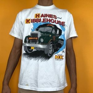 Vintage 90s super cool colorful truck tee